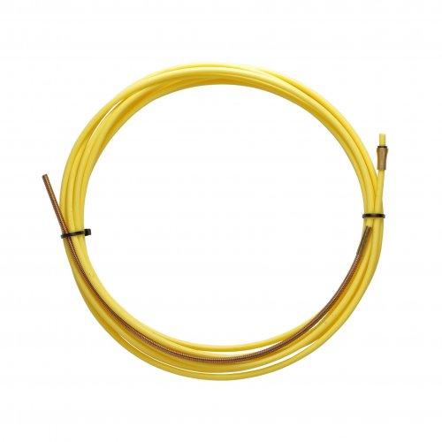 Guaina Teflon Gialla 2,5 X 4,5 L. 5400 Con Terminale In Bronzo - Filo Ø 1,2/1,6