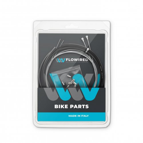 Customized KIT Racing bike brakes, stainless steel cables, 1 Package