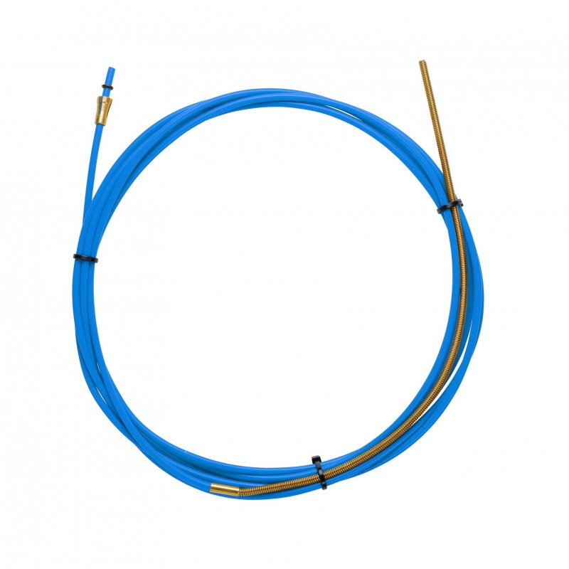 BLUE TEFLON liner 1,5 X 4,0 L.4400 with bronze liner for wire 0,6/0,9