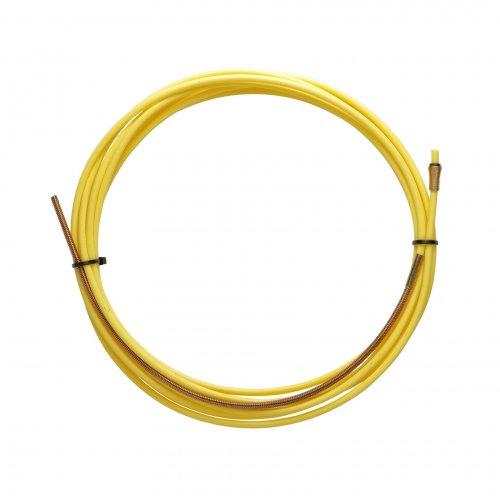 Guaina Teflon Gialla 2,5 X 4,5 L. 3400 Con Terminale In Bronzo - Filo Ø 1,2/1,6