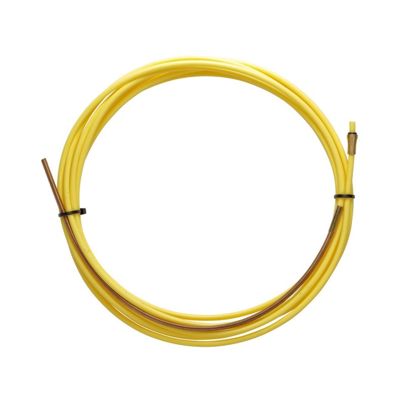 YELLOW TEFLON liner 2,5 X 4,5 L.3400 with bronze liner for wire 1,2/1,6