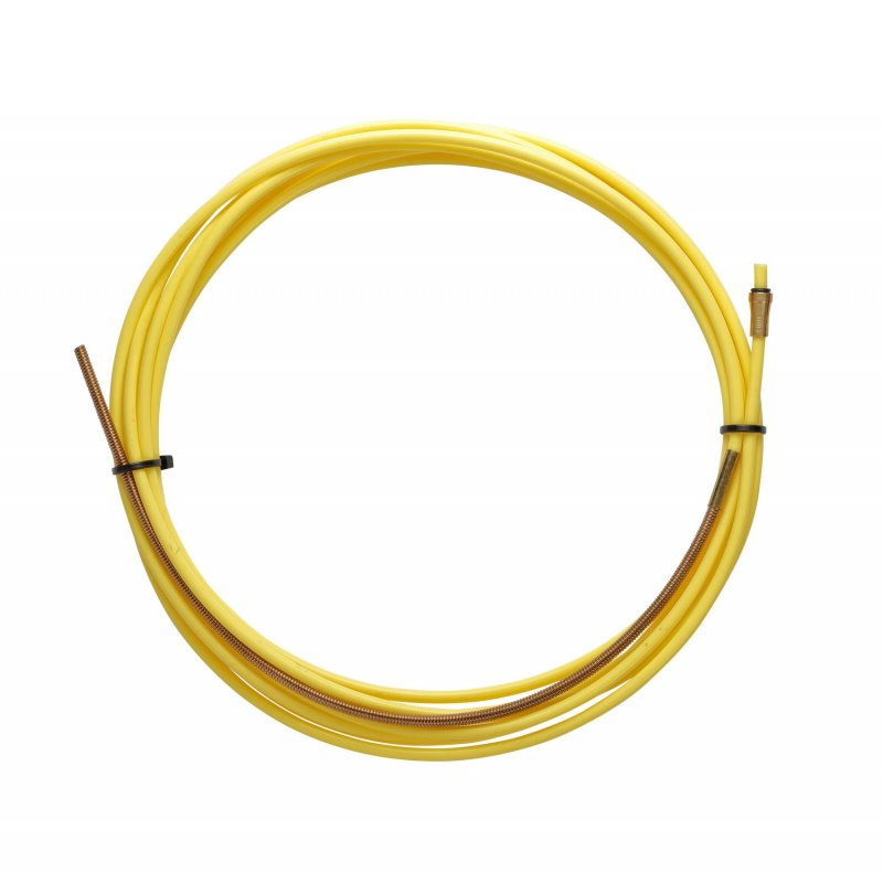 YELLOW TEFLON liner 2,5 X 4,5 L.4400 with bronze liner for wire 1,2/1,6